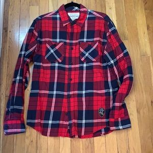 Aeropostale plaid button down shirt size M